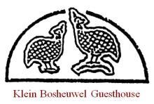 Klein Bosheuwel Guesthouse advert